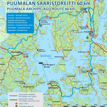 Saaristoreitin kartta